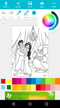Cartoon Coloring Books For Kids : Aladdin screenshot 4