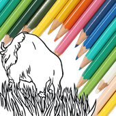 Animal Coloring For Kids : Bull with Camel Edition icon
