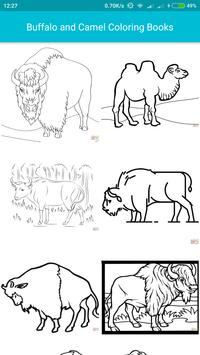 Animal Coloring For Kids : Bull with Camel Edition poster