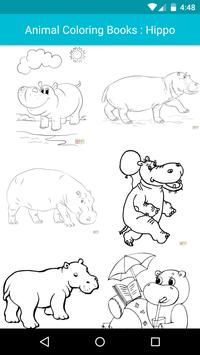 Animal Coloring For Children : Hippo Edition poster