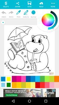 Animal Coloring For Children : Hippo Edition apk screenshot