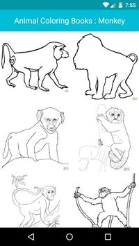 Animal Coloring For Children : Monkey Edition poster
