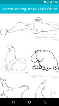 Animal Coloring For Children : Seals Edition poster