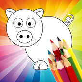 Animal Coloring For Children : Pig Edition icon