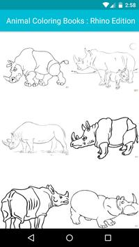 Animal Coloring Children : Rhino Edition poster