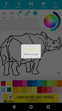Animal Coloring Children : Rhino Edition screenshot 3