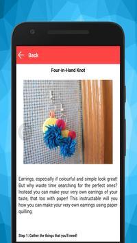 Make Quilling Paper Earrings screenshot 3