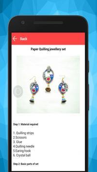 Make Quilling Paper Earrings screenshot 5