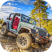 off road jeep driving simulator icon