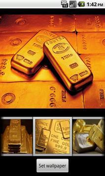 Gold bar Wallpaper poster