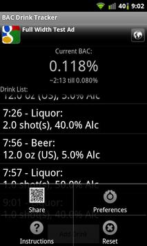 BAC Drink Tracker apk screenshot