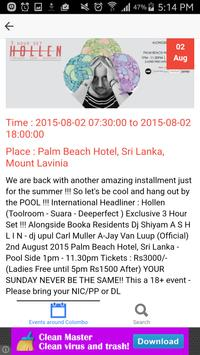 Events in Colombo screenshot 1