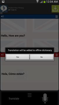 Translator English Spanish apk screenshot
