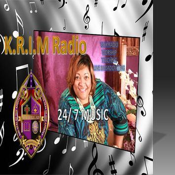 KRIM Radio poster