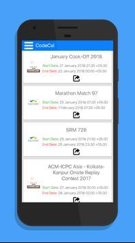 CodeCal : Coding Calendar apk screenshot