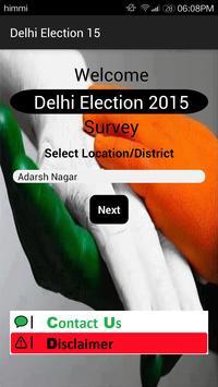 Delhi Election 15 poster