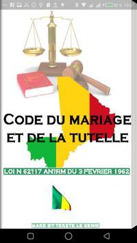 Code du mariage et de la tutelle poster