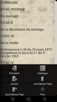 Code du mariage et de la tutelle apk screenshot