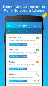 SKEDit Scheduling App: Schedule WhatsApp SMS Calls apk screenshot