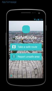 SafeRoute poster
