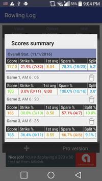 Bowling Log screenshot 4