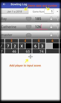 Bowling Log screenshot 5