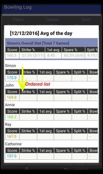 Bowling Log screenshot 1