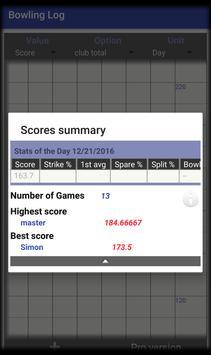 Bowling Log screenshot 2