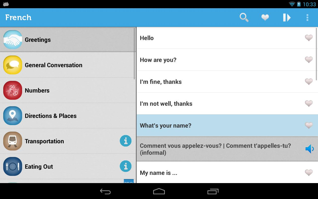 Learn French Phrasebook for Android - APK Download