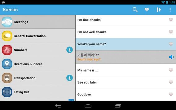 Learn korean phrasebook apk download free education app for learn korean phrasebook apk screenshot m4hsunfo