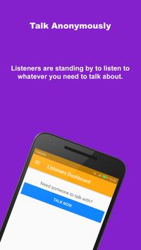 Listeners: Find someone to talk with poster