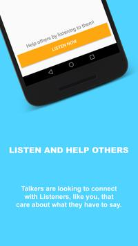 Listeners: Find someone to talk with apk screenshot