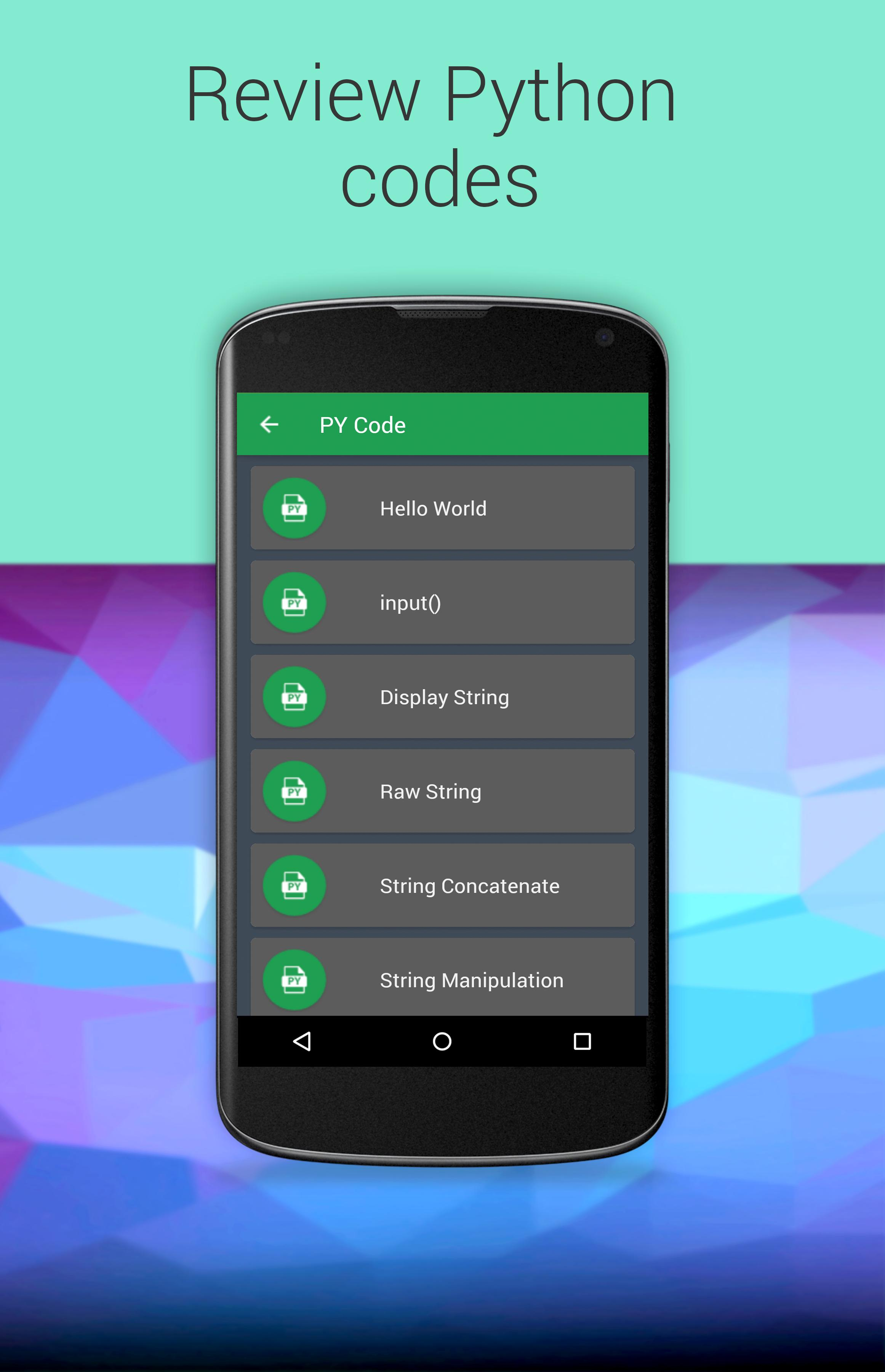 Code in Python for Android - APK Download