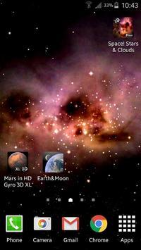 Space! Stars & Clouds 3D Free screenshot 1