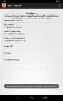 Reboot recovery(root) apk screenshot