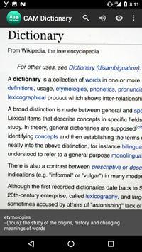 CAM Dictionary poster
