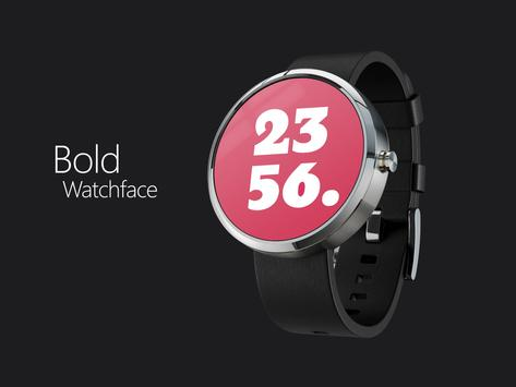 Bold Design Watch face poster