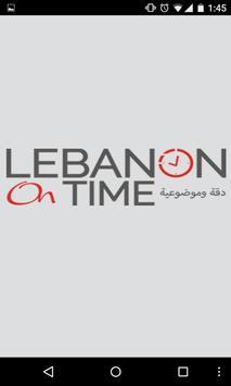 Lebanon on Time poster