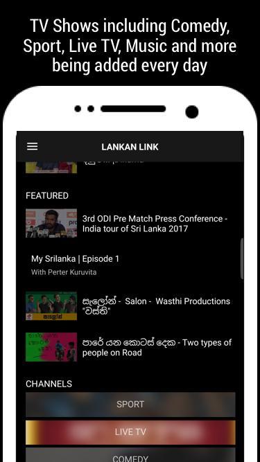Lankan Link, Sri Lanka TV, Movies & Teledramas for Android