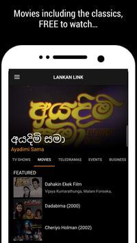 Lankan Link, Sri Lanka TV, Movies & Teledramas apk screenshot