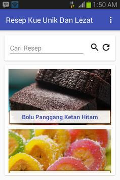 Resep Kue Unik Dan Lezat poster