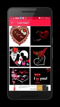 Valentine Love Heart Gif & images screenshot 1