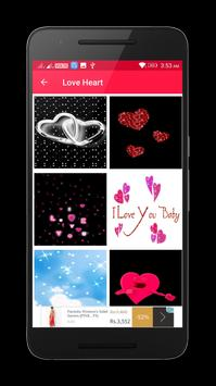 Valentine Love Heart Gif & images screenshot 2
