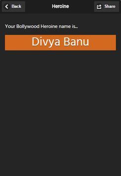 Bollywood Name Generator Free apk screenshot