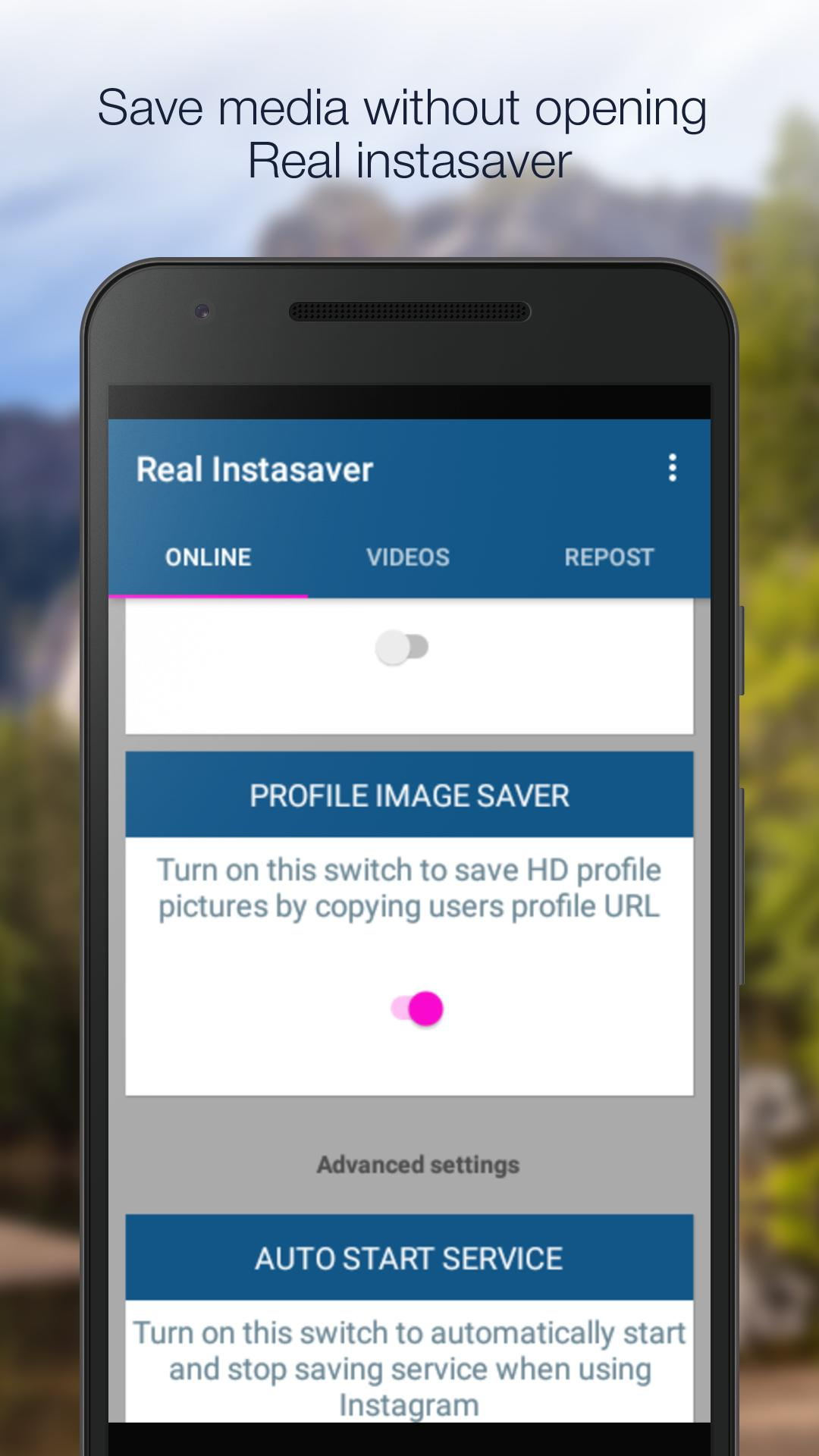 IGet-Save Instagram profile images,photos & videos for Android - APK
