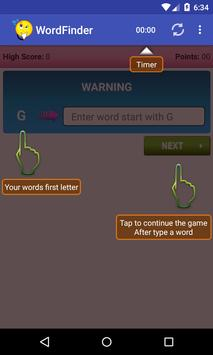 Word Finder Puzzle Game apk screenshot
