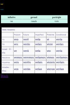 100 Spanish verbs translation screenshot 1