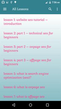 Website SEO Tutorial Lessons for Android - APK Download