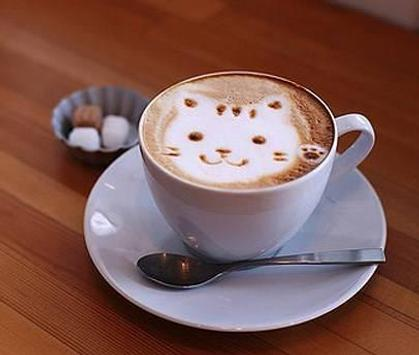 Coffee art latte ideas poster