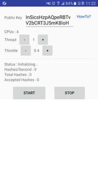 CoinHive Android Miner screenshot 1